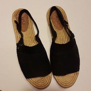 UGG leather espadrille sandals